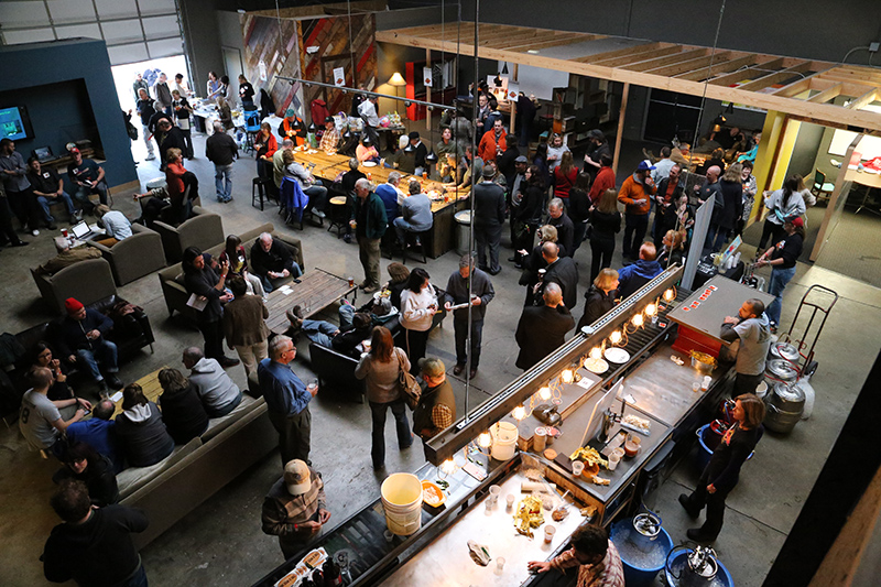 The view from the mezzanine at the Speak Easy. Photo courtesy of The Broad Ripple Gazette